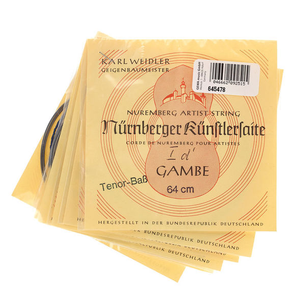 Weidler Tenor Viola da Gamba Strings