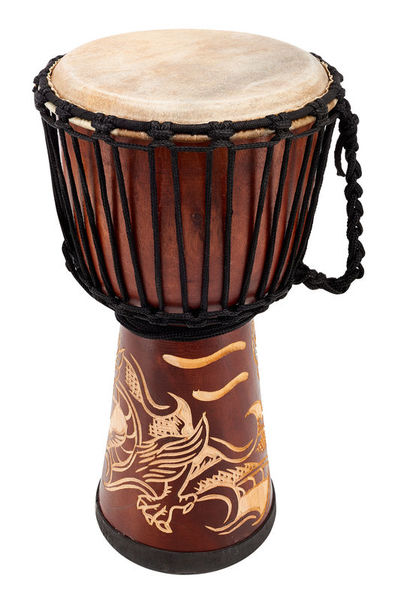 Terre Djembe Carved Dragon 50cm