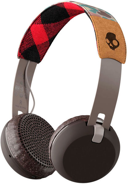 Skullcandy Grind Wireless Gray/Plaid