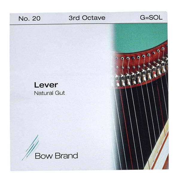 Bow Brand NG 3rd G Gut Harp String No.20