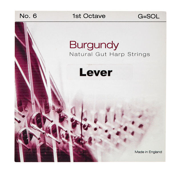 Bow Brand Burgundy 1st G Gut String No.6