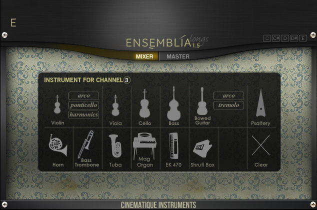 Cinematique Instruments Ensemblia