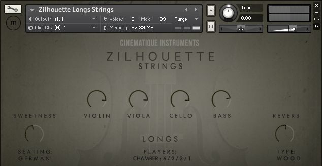 Cinematique Instruments Zilhouette Strings