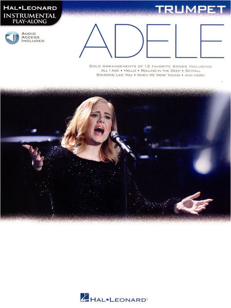 Hal Leonard Instr. Play Along Adele Trump.