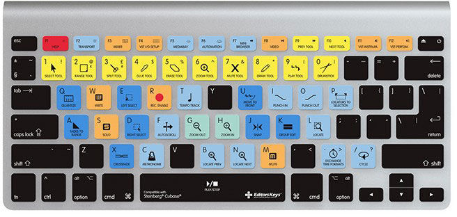 Editors Keys Keyboard Skin Cubase