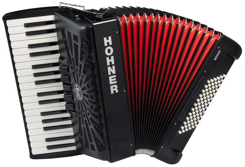 Hohner Bravo III 72 Black silent key