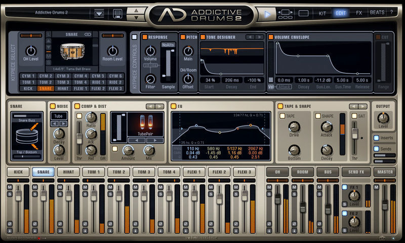 XLN Audio Addictive Drums 2 Custom XL
