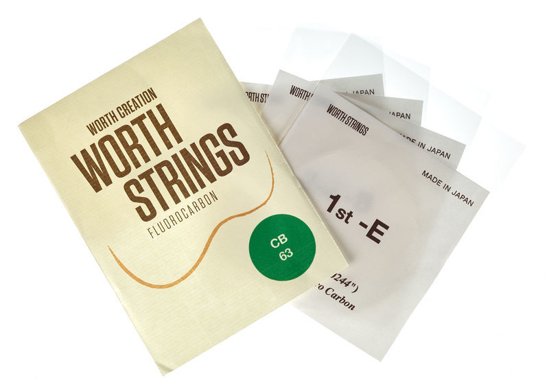 Worth Strings C-B Baritone Ukulele Set