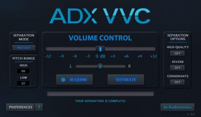 Audionamix ADX VVC