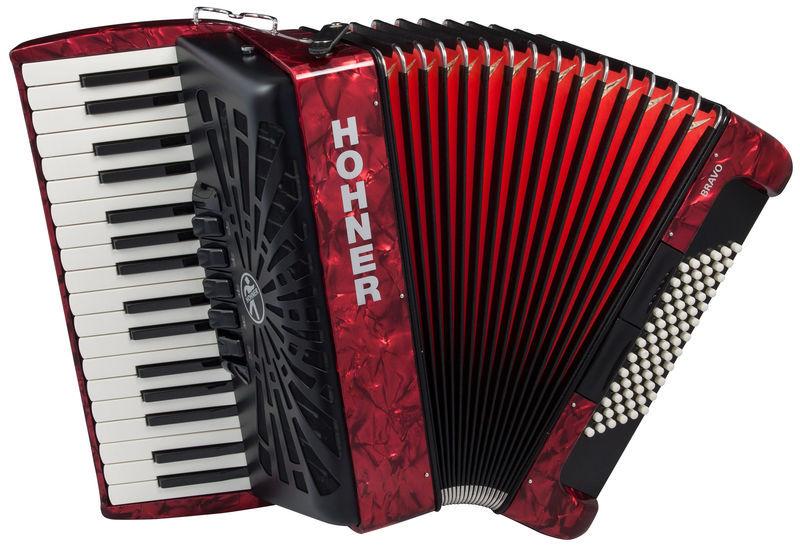 Hohner Bravo III 72 Red silent key
