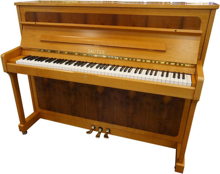 Sauter Piano, used, cherry/yew