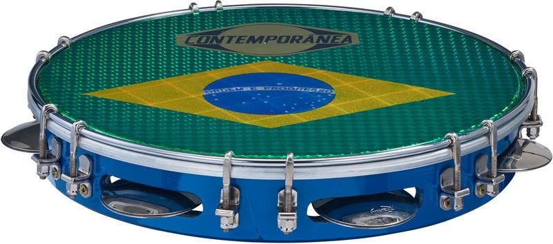 """Contemporanea 10"""" Pandeiro Luxe blue"""