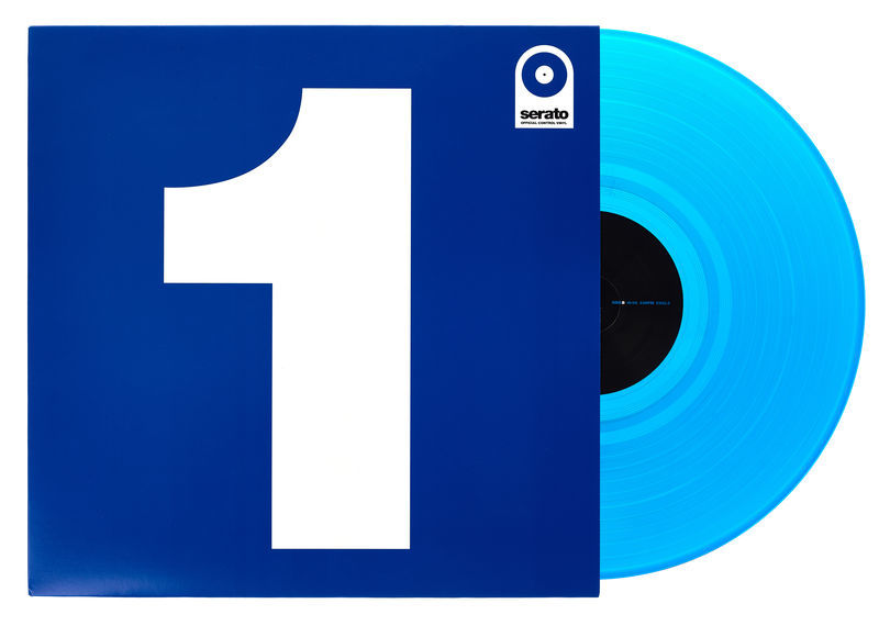 "Serato 12"" Single Control Vinyl-Blue"
