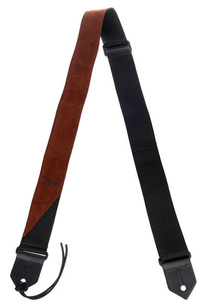 Taylor Suede/Poly Guitar Strap Brown