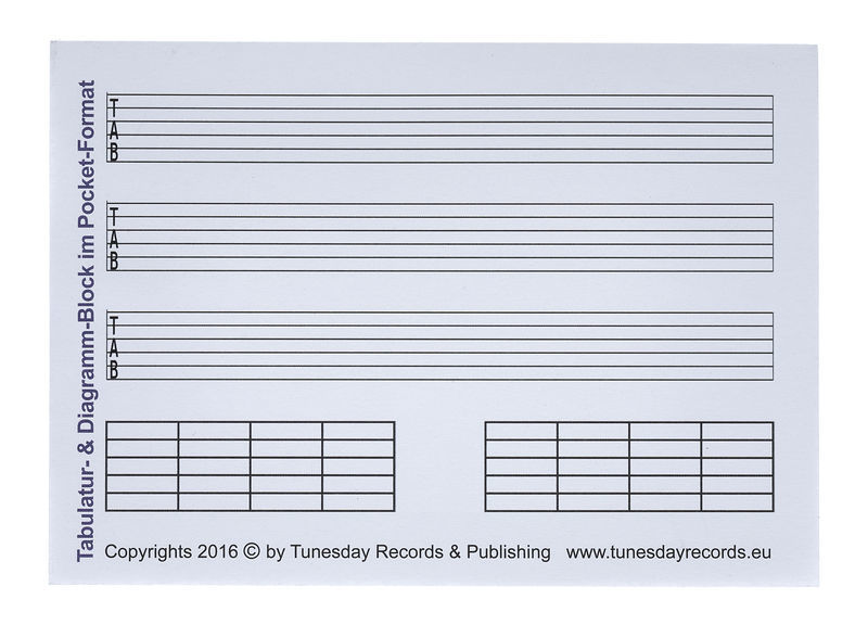 Tunesday Records Tab-Music Paper A6