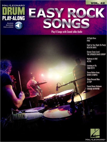 Hal Leonard Drum Play-Along: Easy Rock