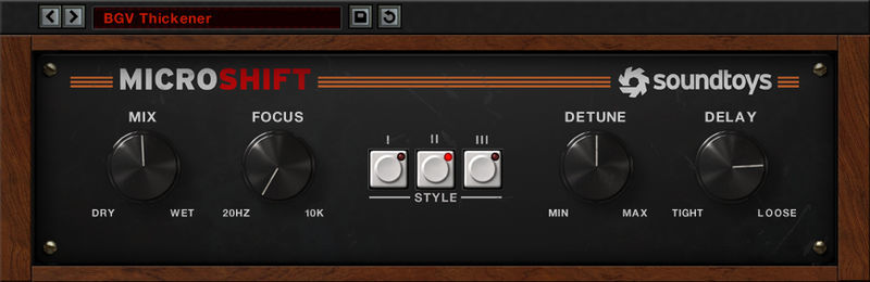 Soundtoys MicroShift