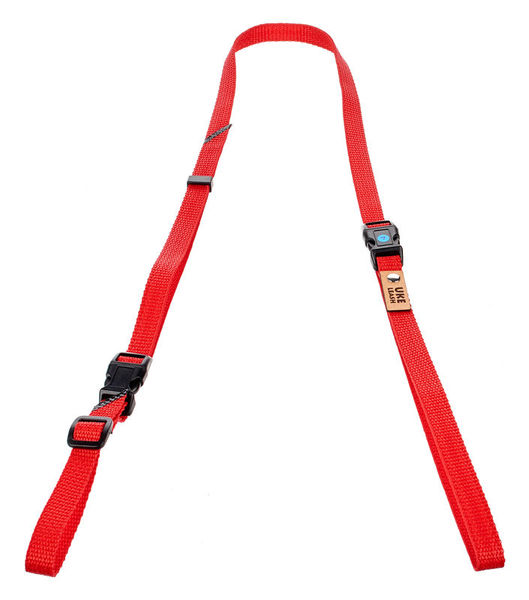 Uke Leash Half Strap Red-Orange Large
