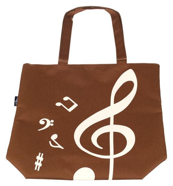 Music Sales Bag Treble Clef Brown