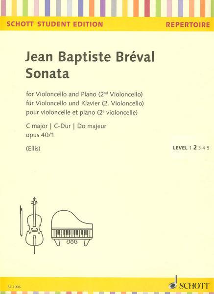 Schott Bréval Sonata op.40/1