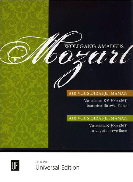 Universal Edition Mozart Ah vous dirai-je Maman