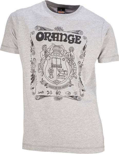 Orange T-Shirt Crest Grey M