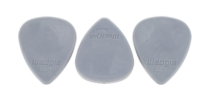 Wedgie Rubber Picks 5,0mm Med 3erSet