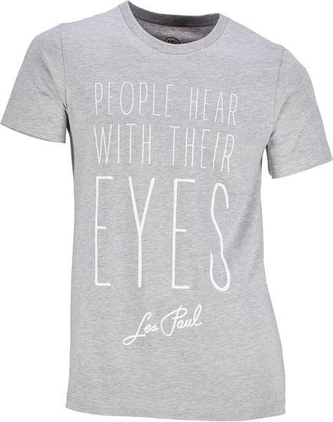 Les Paul Merchandise T-Shirt People Hear With L