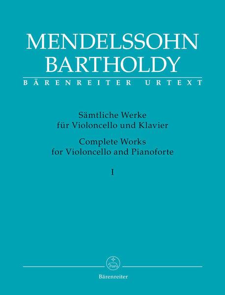Bärenreiter Mendelssohn Bartholdy Works 1