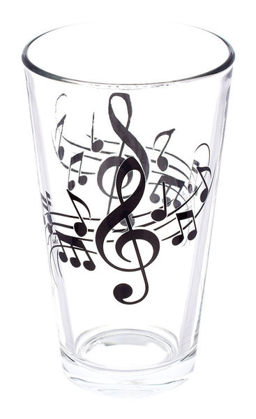 Music Sales Pint Glass - Wavy Staff