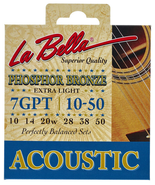 La Bella 7GPT Phosphor Bronze XL