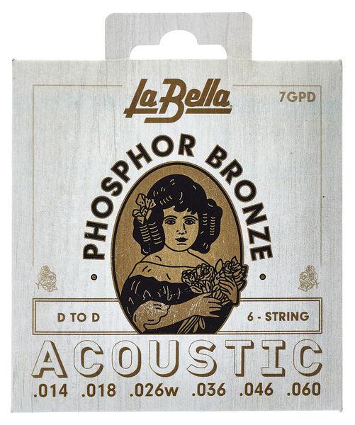 La Bella 7GPD Phosphor Bronze DADGAD