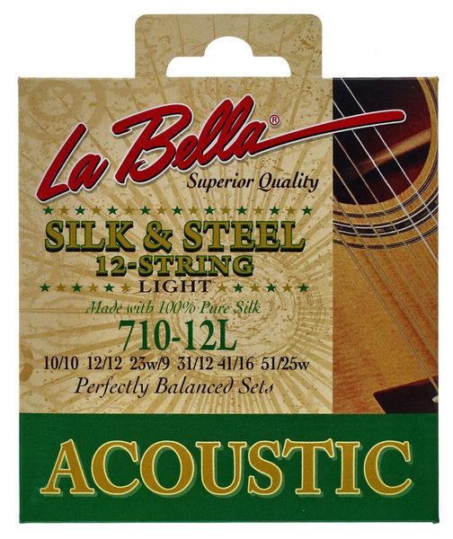 La Bella 710-12L Silk & Steel L