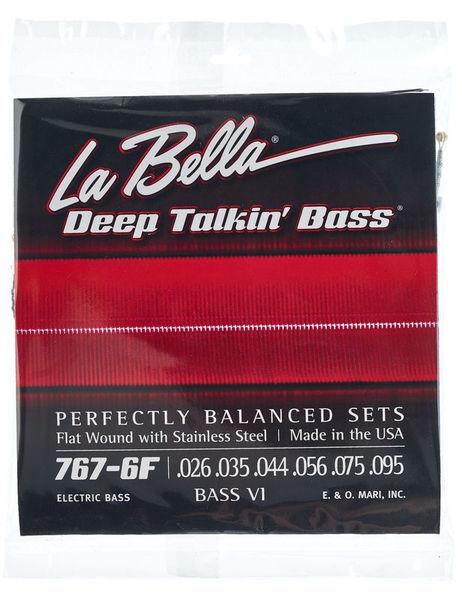 La Bella 767-6F Bass VI Flat M