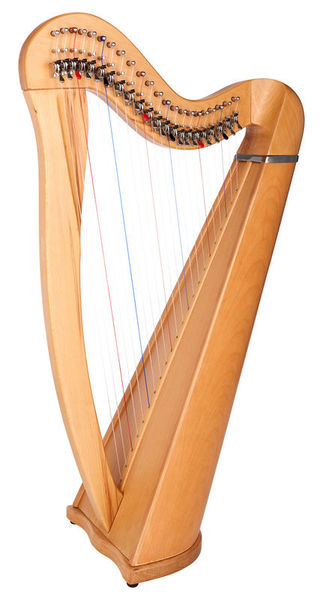 Thomann Roundback Harp Beechwood 22
