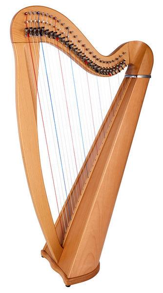 Thomann Roundback Harp Beechwood 27