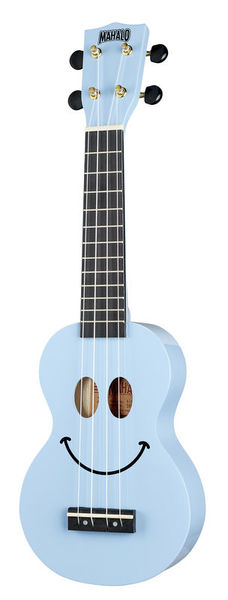 Mahalo Smiley Ukulele Light Blue