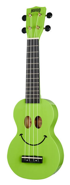 Mahalo Smiley Ukulele Green