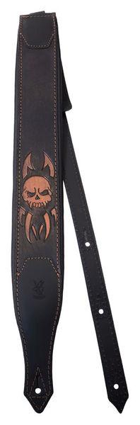 Minotaur Hand Tooled Skull Guitar Strap