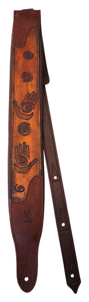 Minotaur Hand Tooled Tribal Strap