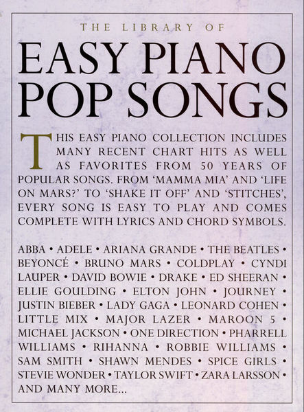 Music Sales The Library Of Easy Piano Pop