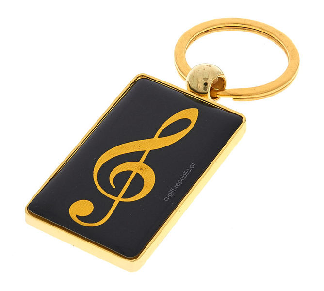 A-Gift-Republic Key Ring G-Clef Black/Gold