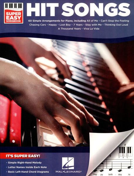Hit Songs Super Easy Songbook Hal Leonard