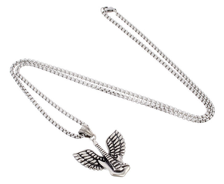 Rockys Necklace Guitar Wings