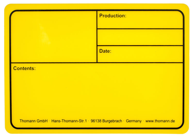 Stairville Tourlabel 177x127mm Yellow
