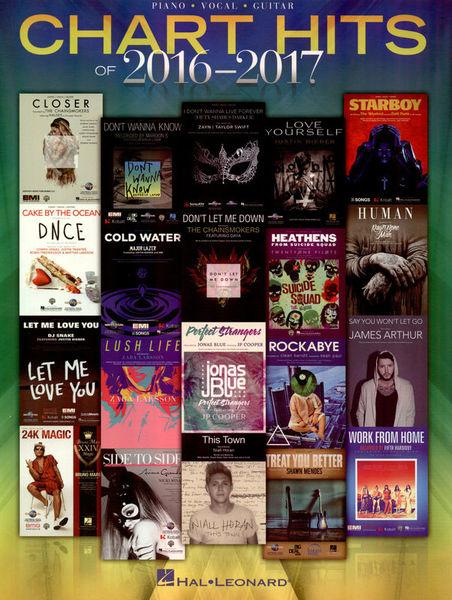 Hal Leonard Chart Hits Of 2016-2017 Piano