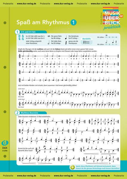 Edition Dux Rhythmus 1 Überblick