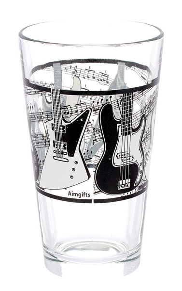 Music Sales Pint Glass - Guitar