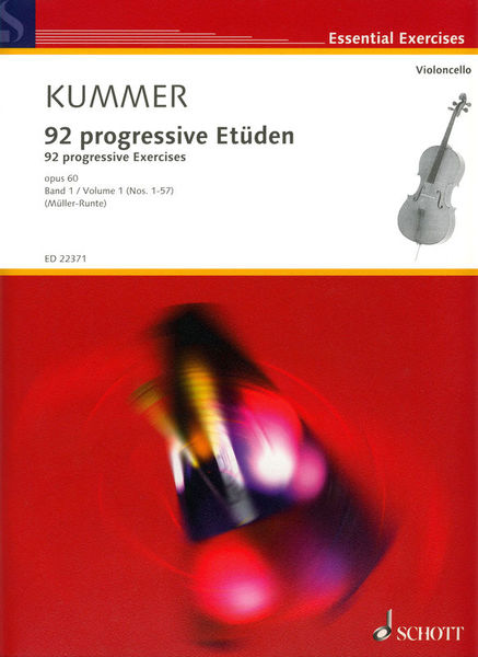 Schott 92 Exercises Cello Vol.1