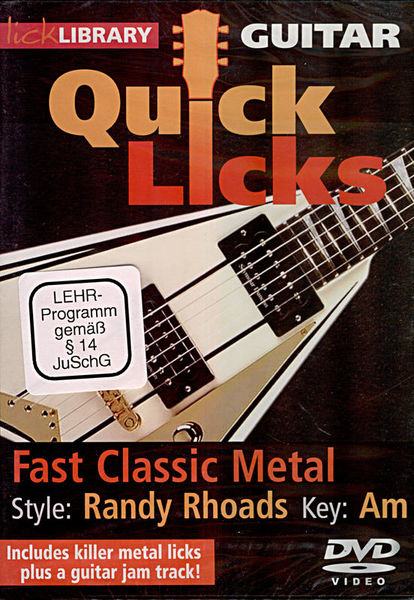 Music Sales Quick Licks - Randy Rhoads